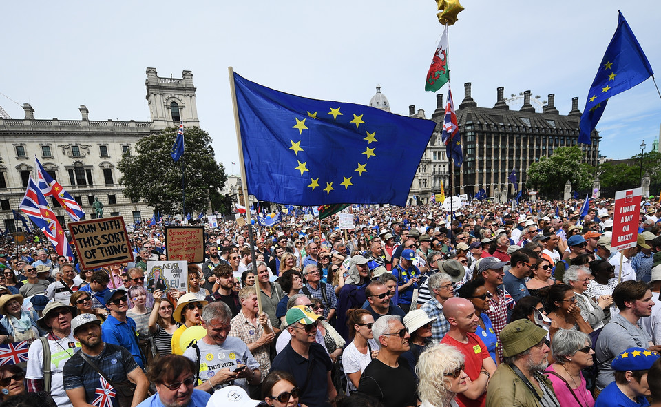 epa06833895 - BRITAIN BREXIT PEOPLES MARCH (People's March Against Brexit in London)