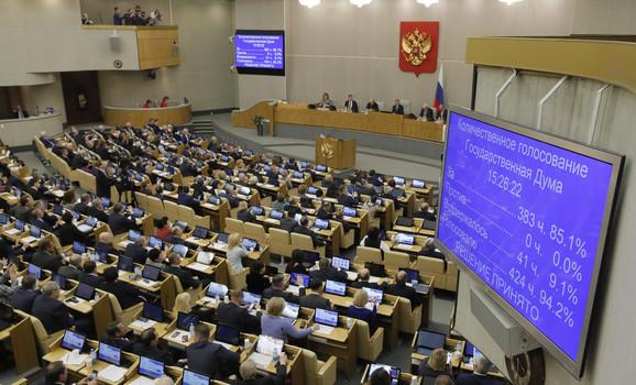 Niko nije glasao protiv Putinovog imenovanja Mišustina za premijera
