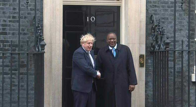 Uhuru meets British Prime Minister for a private meeting in London
