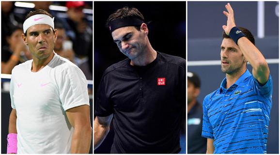 Novak Đoković, Rodžer Federer, Rafael Nadal