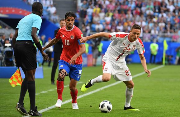 Detalj sa meča između Srbije i Kostarike