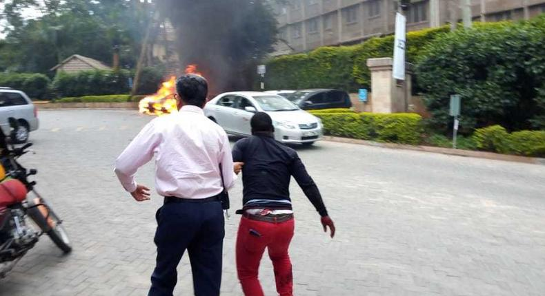 Blast and heavy gunshots near Dusit Hotel