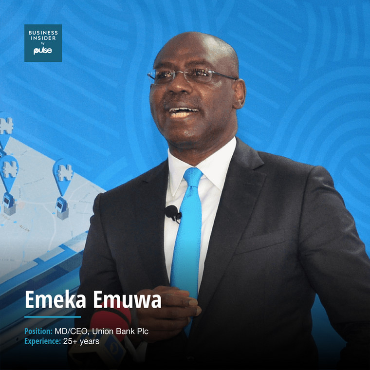 Emeka EmuwaMD/CEO, Union Bank Plc