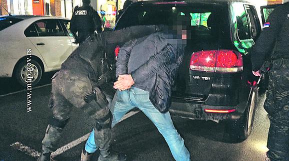 Milan Zarubica hapsenje foto MUP (1)
