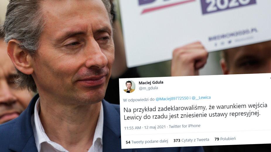 Maciej Gdula tłumaczy się z wpisu o wejściu Lewicy do rządu