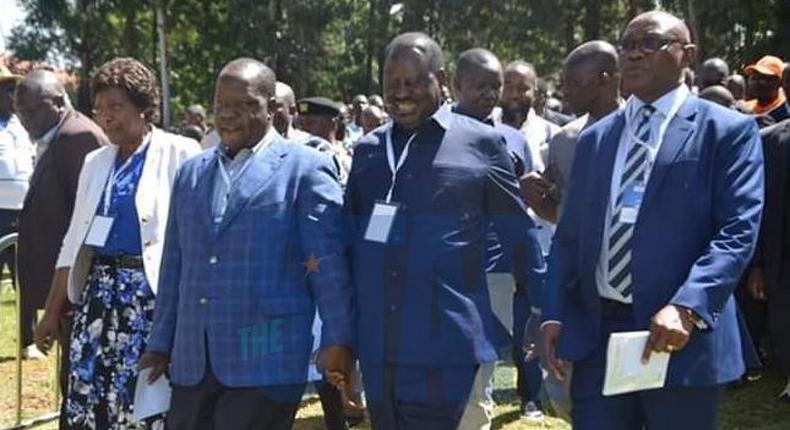 Governor Charity Ngilu, CS Fred Matiangi, Raila Odinga and Kisii Governor James Ongwae