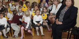 Komorowska i przedszkolaki. Prezydentowa śpiewała!