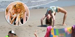 """Lara Gessler wygina wysportowane ciało nad morzem. Co na to jej mama? """"Moja Lara jest cudowna i gibka"""""""