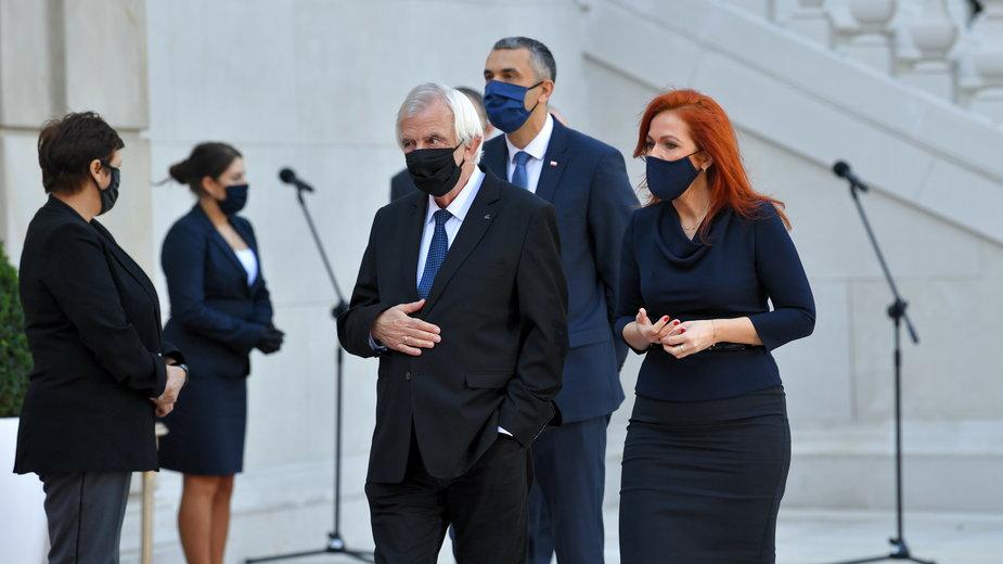 Agnieszka Kaczmarska, Marek Pęk i Ryszard Terlecki