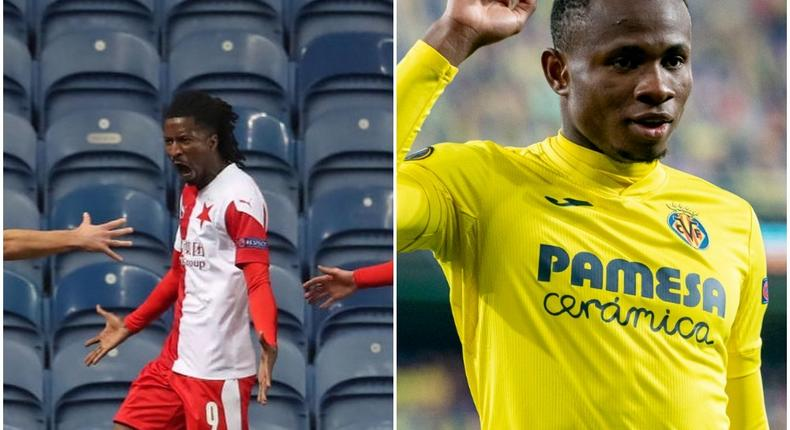 Samuel Chukwueze and Peter Olayinka will play in the Europa League's quarterfinals  (Twitter/Instagram)