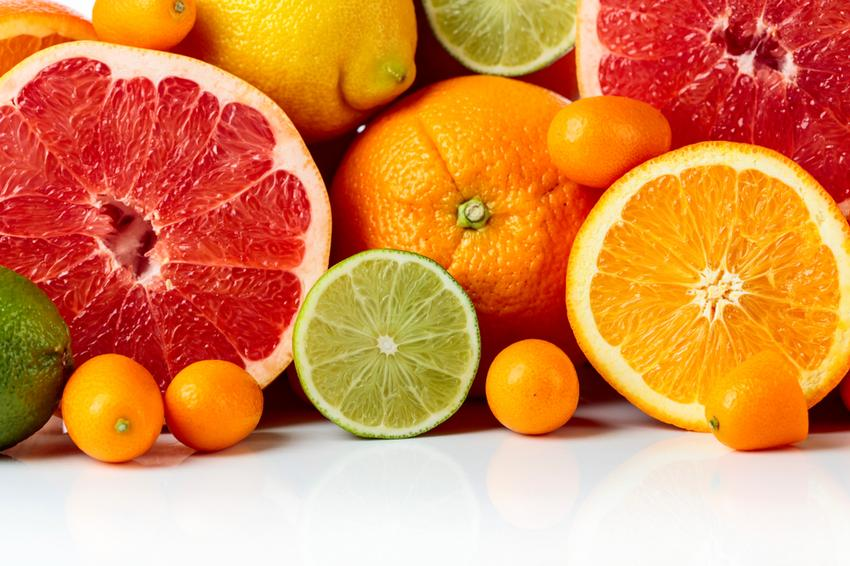 citrus, C-vitamin, citrom, grapefruit