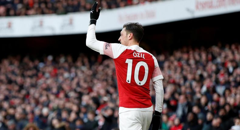 Arsenal midfielder Mesut Ozil in action during a past match