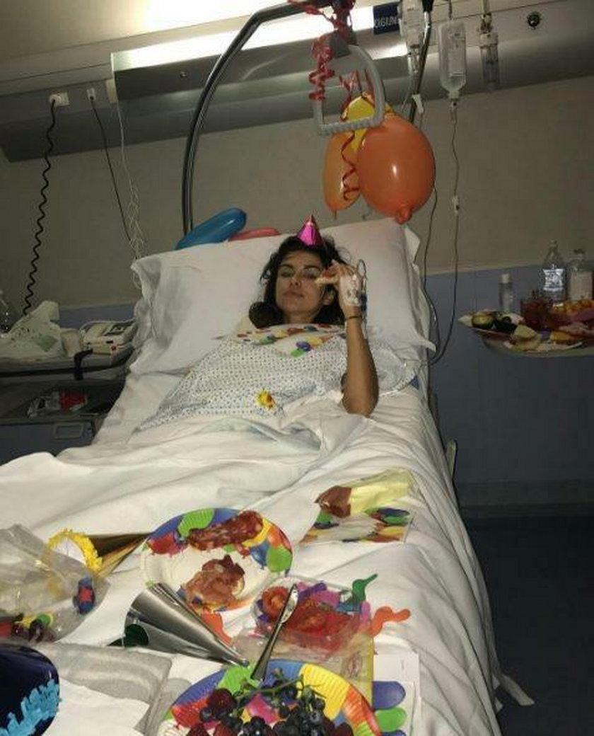 Natalia Siwiec w szpitalu.