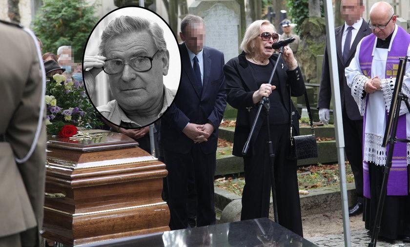 Maria Gołas pożegnała ukochanego męża.