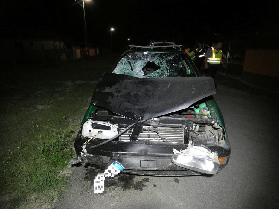 A sofőr megállás és segítségnyújtás nélkül hagyta maga mögött áldozatait. / Fotó: police.hu