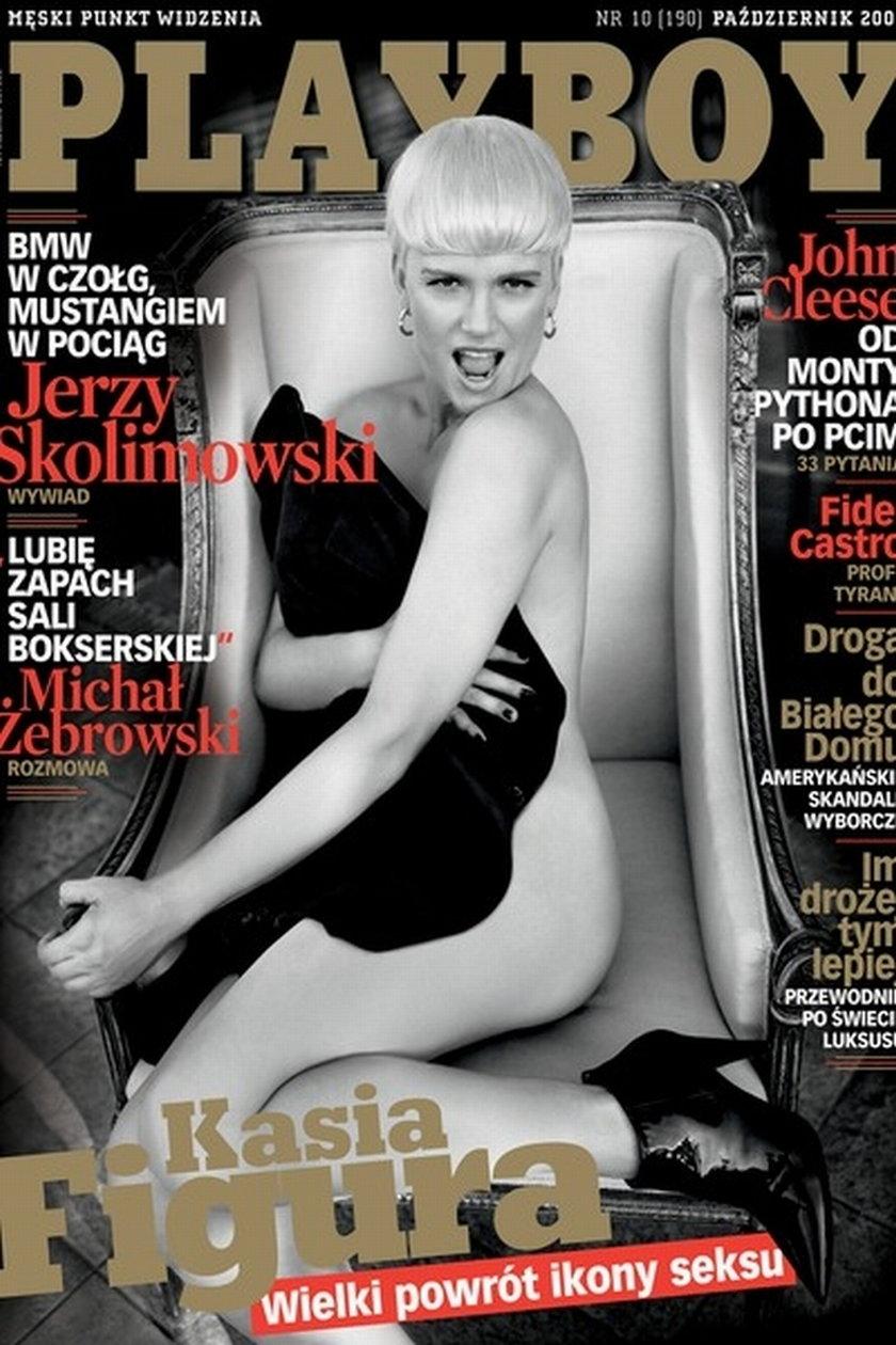 Katarzyna Figura na okładce Playboya