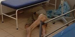 Skandal na SOR w Lublinie! Półnagi mężczyzna leżał na podłodze