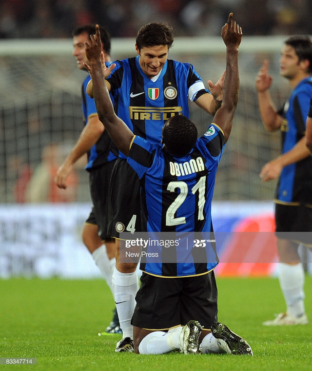 Obinna Nsofor could not compete with more prolific strikers at Inter and left after just 11 appearances Press/Getty Images)