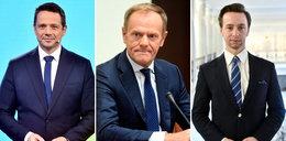 Zaskakujące wyniki sondażu. Wielkie zmiany wśród liderów opozycji i smutek Szymona Hołowni