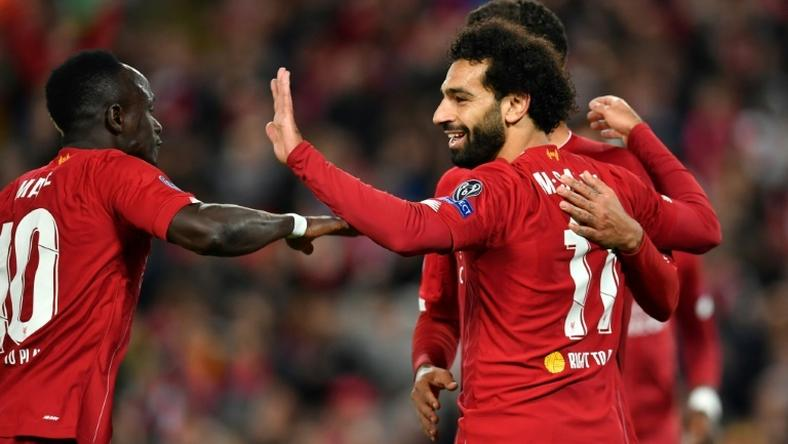 Salah the saviour: Mohamed Salah scored twice to spare Liverpool's blushes against Salzburg