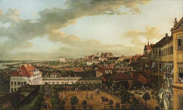 """Bernardo Bellotto zwany Canaletto, """"Widok Warszawy z tarasu Zamku Królewskiego"""", 1773, olej na płótnie, 269 x 166 cm, wł. Muzeum Narodowe w Warszawie, fot. MNW"""