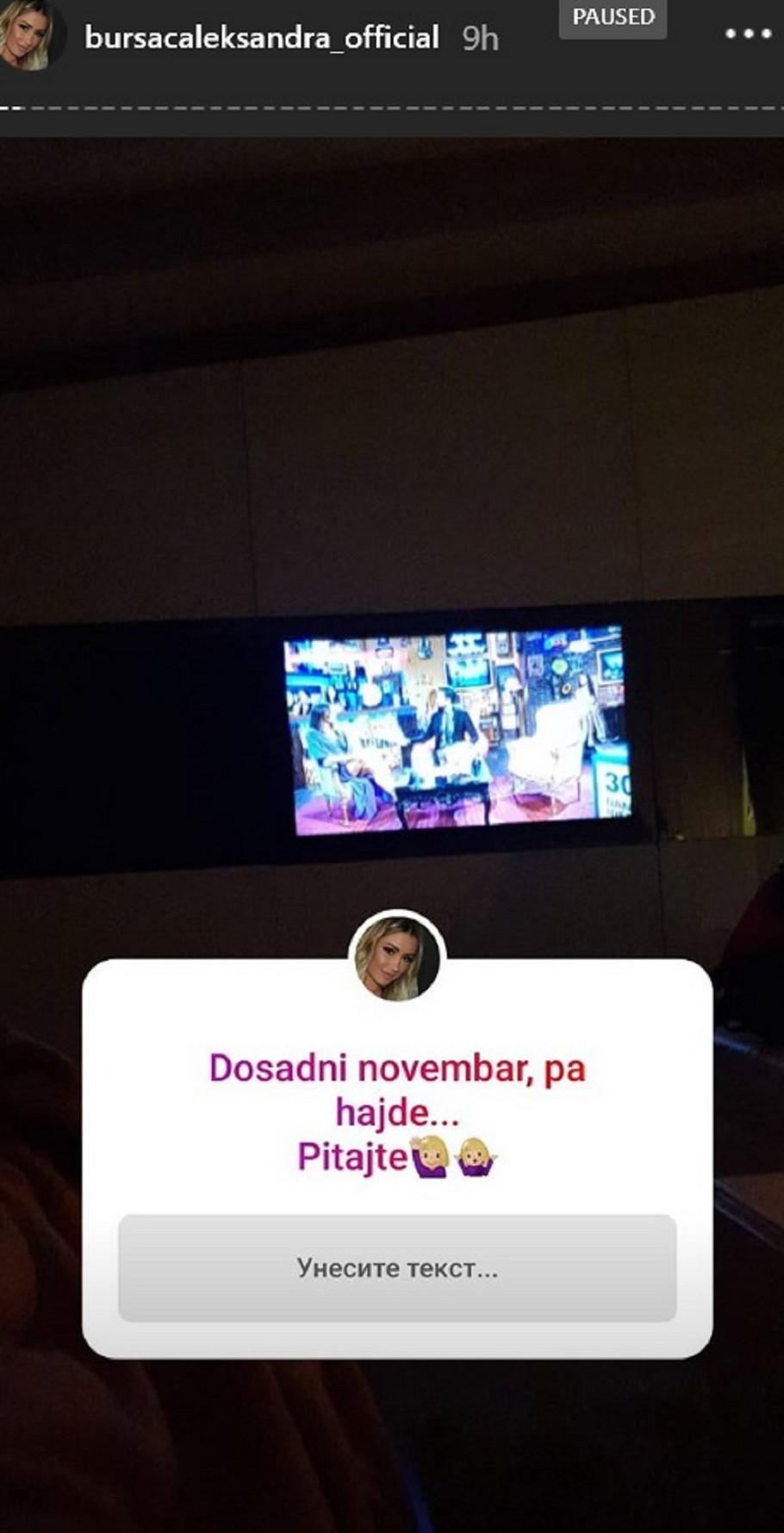 Aleksandra Bursać gleda emisiju