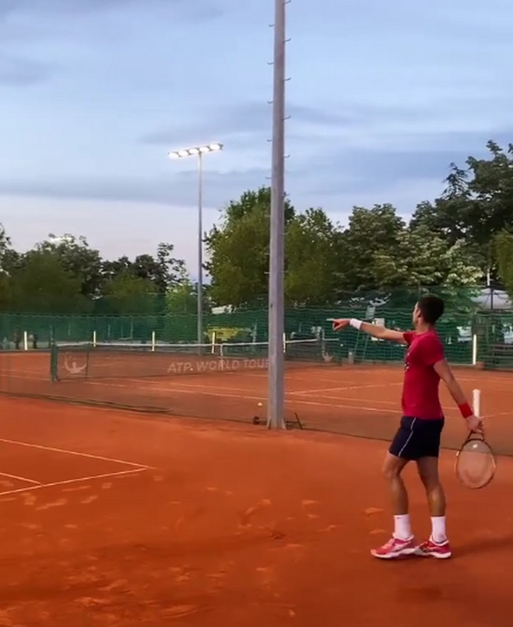 Novak Đoković na treningu u Beogradu