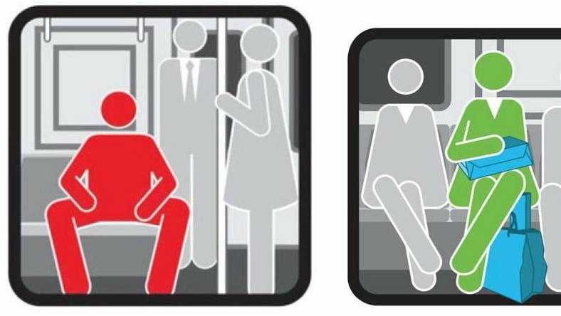 Mężczyznę aresztowano za jego sposób siedzenia
