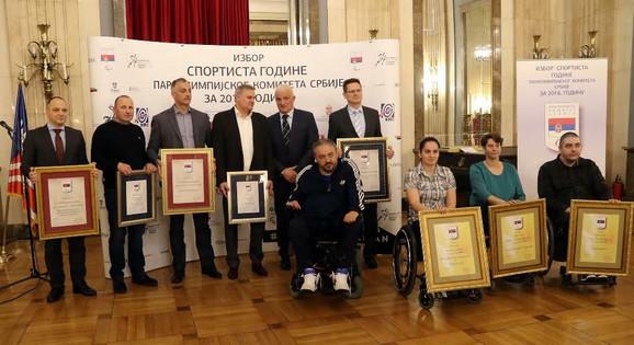 Nagrađeni paraolimpijci Srbije