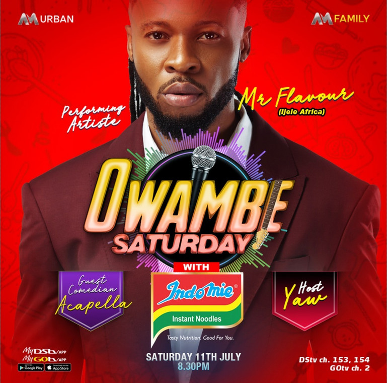 Experience the Best of Mr Flavour on Africa Magic Owambe this Saturday