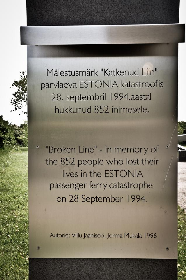 W 1994 roku zatonął prom pasażerski ESTONIA. Zginęły 852 osoby.