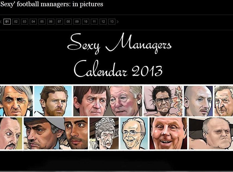 """""""Sexy Managers Calendar 2013"""""""
