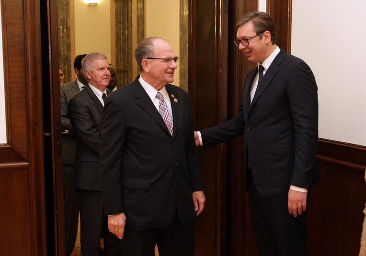 Aleksandar Vučić, Ted Po, SAD, kongresmen, Beograd, Poseta