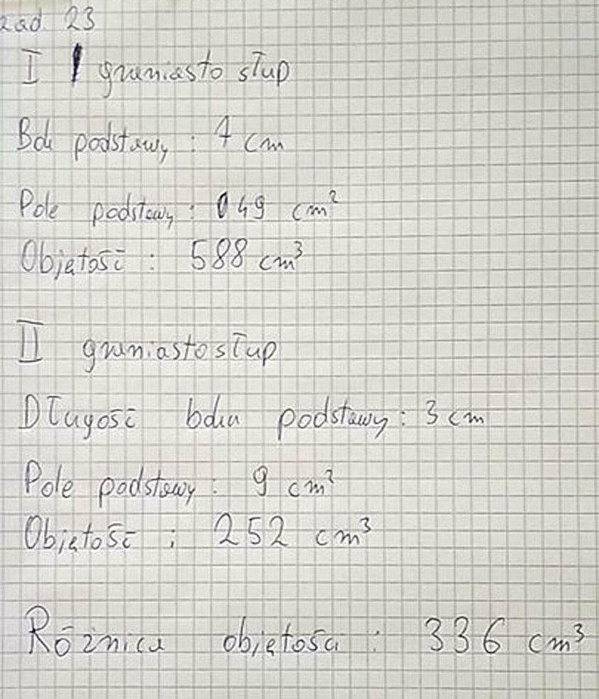 Egzamin gimnazjalny z matematyki