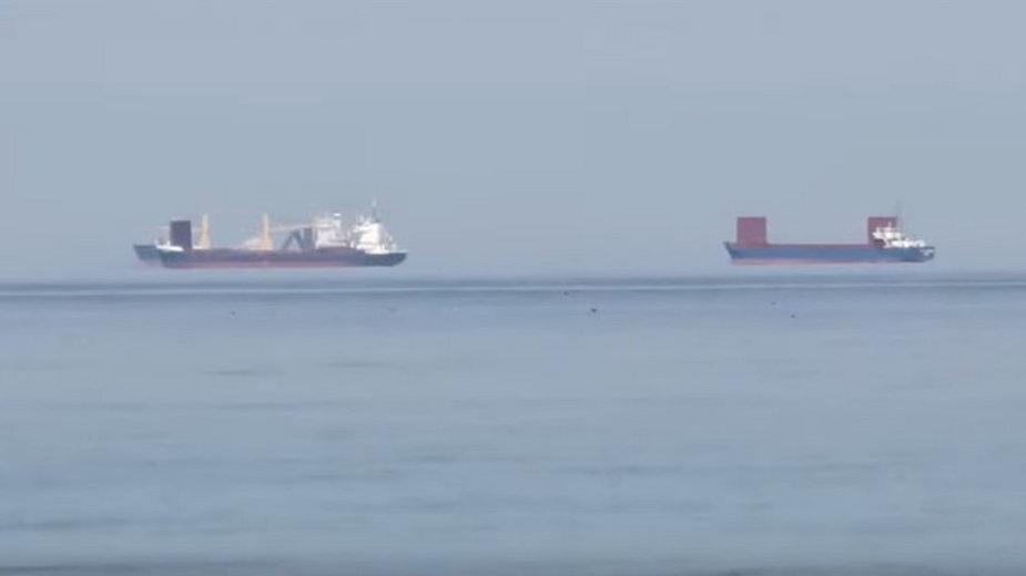 Lewitujące statki? Zaskakujące wideo z Zatoki Gdańskiej