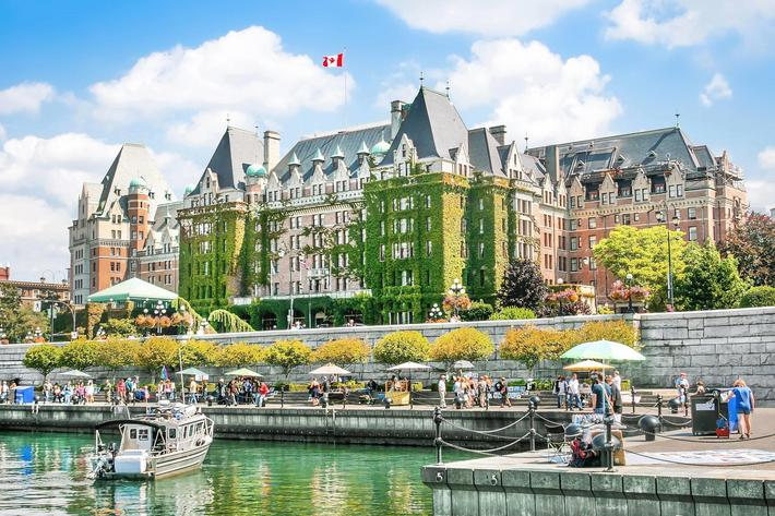 Beautiful view of Inner Harbour of Victoria, BC, Canada