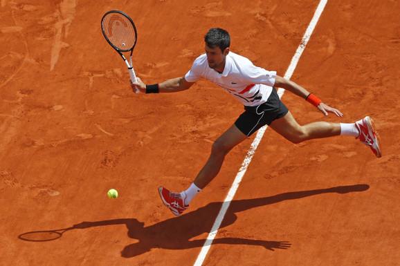Novak Đoković na Rolan Garosu 2019. godine