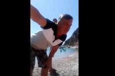 """(VIDEO) """"NEĆETE SE KUPAT OVĐE!"""" Gramzivi Crnogorac hteo da otera meštane sa plaže, ali nije očekivao OVAKAV EPILOG"""