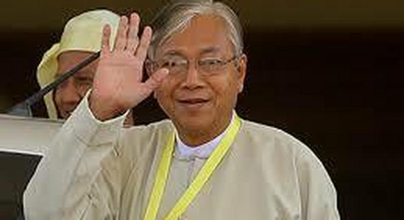 Myanmar's President U Htin Kyaw