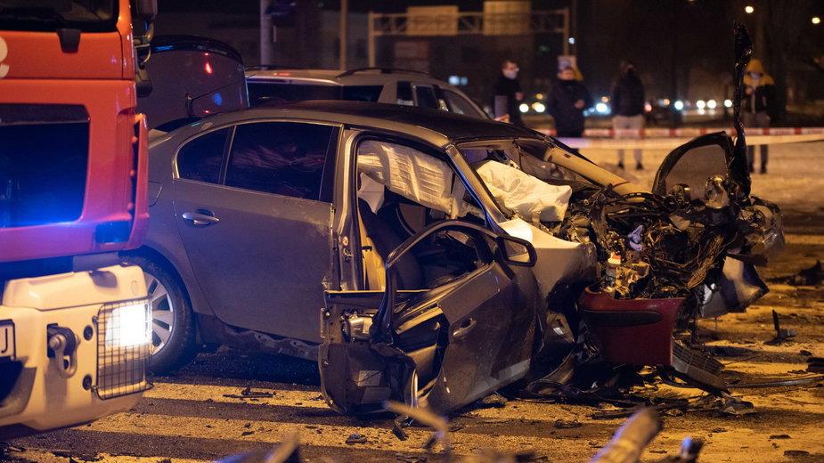 Wypadek 6 aut Jana Pawła Obywatelska