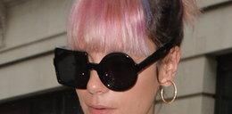 Lily Allen w dziwnych okularach