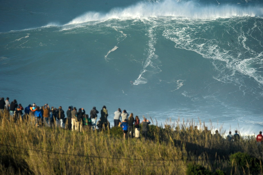 epa08782629 - PORTUGAL SURFING BIG WAVES (Nazare Big Wave Surf)