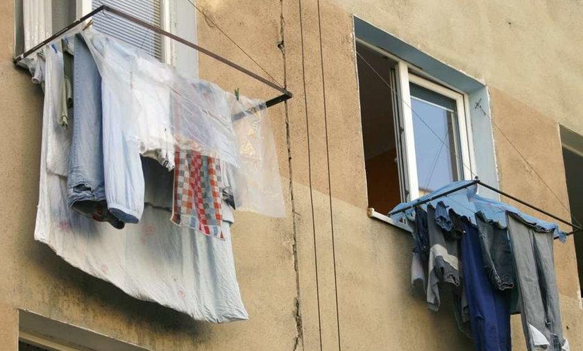 Bezczelność ! Kradła pranie!