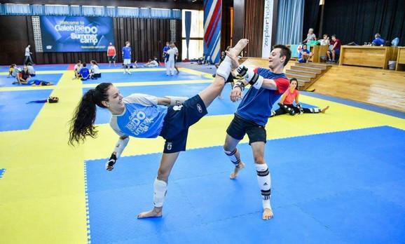 Tijana Bošković i Dimitri na treningu