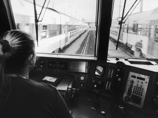 Marie-Lyne Lombart, Conductor Operating In Vitry, France In October, 2004 -
