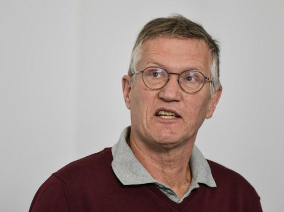 Anders Tegnel, glavni švedski epidemiolog