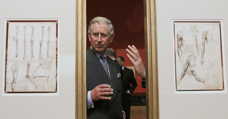 Princ Čarls na izložbi u Bakingemskoj palati