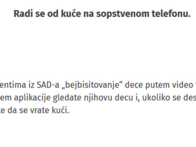 Cela Srbija prijavila se na OVAJ OGLAS ZA POSAO: Uslovi su bogovski, ali SVI ZABORAVLJAJU JEDNU VAŽNU STVAR