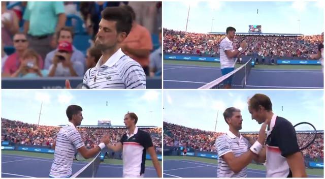 Novak čestita Medvedevu na pobedi u polufinalu turnira u Sinsinatiju