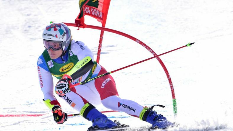Marco Odermatt na stoku slalomu giganta w Kranjskiej Gorze Dostawca: PAP/EPA.